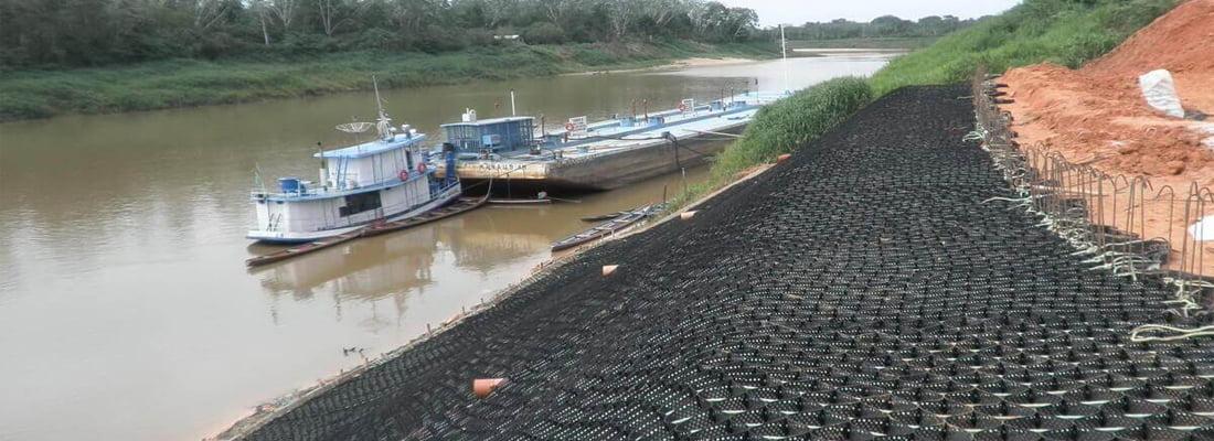 ổ địa kỹ thuật bảo vệ bờ kênh