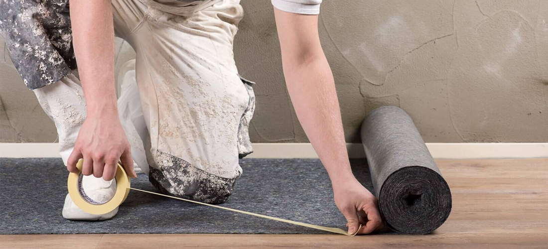 Dán mép thảm với mặt sàn